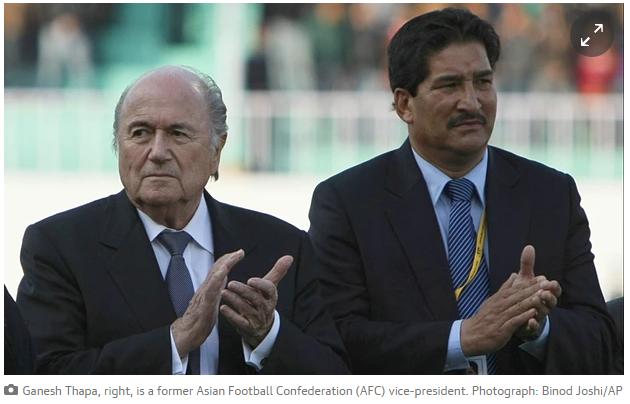 Sepp Blatter - Ganesh Thapa